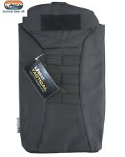 Black Tactical Modular Hydration Pouch For Combat Bladder MOLLE Airsoft Backpack
