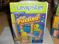 Puzzled-Leapster-Scholastic-300 + Brain Power Games`K-2Nd Grade`New- Free To US