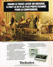 PUBLICITE ADVERTISING 035  1981  TECHNICS   hi-fi  platine SL-10
