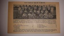 San Diego High School & Sacred Heart College CA 1928 Football Team Picture