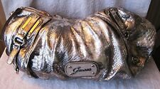 BEAUTIFUL - OVERSIZED - GUESS - SILVER SNAKESKIN - SATCHEL STYLE PURSE - BAG!!