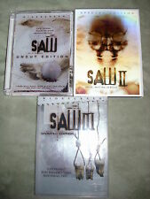 RARE OOP Saw 1 2 & 3 DVD BLOOD PACK uncut unrated HORROR Cary Elwes Danny Glover