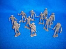 MARX Cowboys, Trappers, and Miners 32 pcs. 1/32 scale Brown toy soldiers