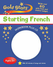 Gold Stars Starting French with over 60 gold stars and sticker badges Plus CD