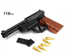 BUILDING BRICK BLOCK CUSTOM RUGER HAND GUN PISTOL WEAPON COMPATIBLE WITH LEGO