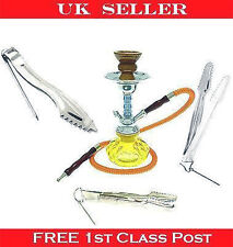 LARGE CHARCOAL METAL TONGS POKER HOOKAH NARGILA SHISHA PIPE ACCESSORY
