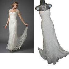 *MONSOON*Ivory Ellis Strapless Embellished Wedding Maxi Dress sz12 £699 NO SHRUG