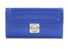 NWT MBMJ Marc Jacobs Blue Patent Leather Top Schooly Reflector LG Trifold Wallet