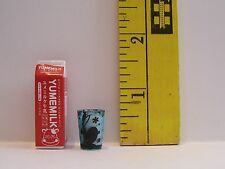 MINIATURE RE-MENT CARTON GLASS OF MILK  FOR DOLLS 1/6 SCALE ACCESSORY RETIRED #7