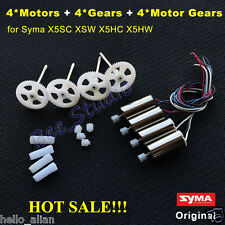 4PCS CW CCW Motor Engine+Gear Wheel Set for Syma X5SC X5SW X5HC X5HW Spare Parts