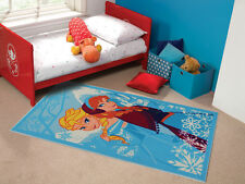 Childrens Princess Elsa & Anna Playmat Rug 100 x 190 cm Disney Frozen Carpet