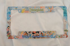 Disneyland Resort License Plate Frame Walt Disney Parks Souvenir Where Dreams