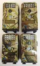 1870 Qty 4 Used Wildgame Innovations W2X 2MP Camo Micro Infrared Game Camera