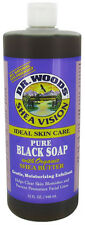 Dr. WOODS - Pure Black Soap with Organic Shea Butter - 32 fl. oz. (946 ml)