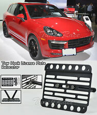 For 15-Up Porsche Cayenne 958.2 Front Tow Hook License Plate Bracket Relocator