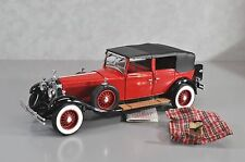 RARE Franklin Mint 1:24 RED 1929 Rolls-Royce Phantom I Cabriolet De Ville ERROR