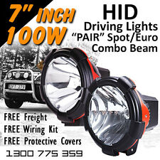 HID Xenon Driving Lights - 7 Inch 100w Spot/Euro Combo Beam 4x4 4wd Off Road