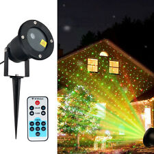 Waterproof Outdoor LED Laser Projector Garden Christmas Moving Star Night Lights