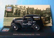SIMCA 5 FOURGONNETTE TOLEE 1936 IXO 1/43 NOIR NOIRE ALTAYA BLACK