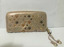 JIMMY CHOO Bag/Purse Fuchsia Filipa Leather with Stars Zip Around Wallet. New!