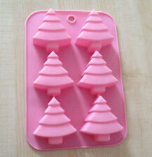 6-Christmas Tree Cake Mold Cookie Mould Flexible Silicone Soap Mold Chocolate