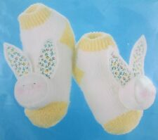 Sock-A Bye BABY BUNNY BOOTIES Sewing Embroidery Craft Kit #710 Rabbit Socks New