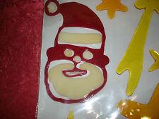 Weihnachtsdekoration, Fensterbilder, Gel-Sticker, Weihnachtsmann, Sternschnuppe!