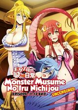 DVD Monster Musume Episode 1-12 end Anime Boxset UNCENSORED