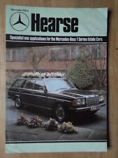MERCEDES BENZ T SERIES HEARSE orig 1980 UK Mkt Sales Brochure - W123 240 280 TE