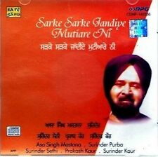 asa singh mastana - sarke sarke jandiye mutyare - NEW CD - FREE UK POST