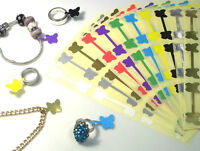 100 Butterfly Jewellery Price Stickers 16 x 54mm Tags / Labels Dumbells  Jewlry