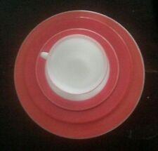 Pyrex Flamingo Pink Four Piece Place Setting Cup Saucer Salad & Dinner Plates
