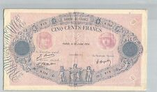 FRANCE 500 FRANCS BLEU ET ROSE 25 JUILLET 1924 B.754 N° 18826919 PICK 66 j