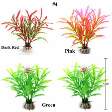 11 Types Artificial Aquarium Plants Plastic Water Grass Fish Tank Ornament Decor
