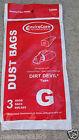 vacuum cleaner bag bags Hand Vac Type G fi Dirt Devil