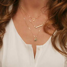 Fashion Simple Maxi Pendants Necklaces Sequined Multilayer Necklace