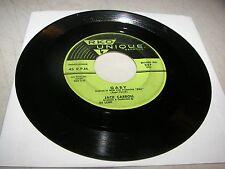 JACK CARROLL GABY / HOW AM I GONNA SLEEP TONIGHT 45 VG Unique 337 1956