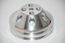 273 318 340 360 V8 Mopar Dodge Polished Aluminum Double Groove Water Pump Pulley