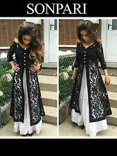 Designer Latest Formal Party Wear Lehenga Choli Black White Net Diwali Dress