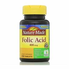 Nature Made Folic Acid 400 mcg Tablets 250 ea