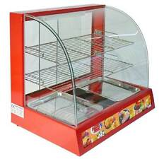 Hot Food Display Cabinet Counter Electric Pie Chicken Pasty Sausage Rolls 66cm