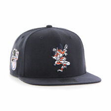 Detroit Tigers '47 Brand MLB Snapback Hat Sure Shot Cap Cooperstown Flat Brim