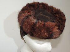 1940's Brown Velvet / Mink Fur Tilt Hat
