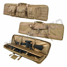 "VISM NcSTAR Tactical 42"" Padded Double Carbine Rifle Weapons Gun Case Bag Tan"