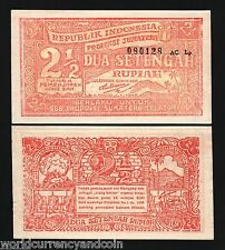 INDONESIA 2.1/2 RUPIAH PS202 1948 TREE UNC WORLD CURRENCY MONEY BILL BANK NOTE