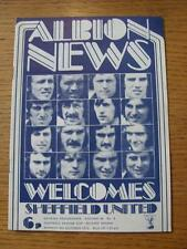 08/10/1973 West Bromwich Albion v Sheffield United [Football League Cup] (No app