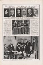 1921 - PRINT- IRELAND-THE VICTORY FOR PEACE, PICTURES, DE VALERA,PARNELL,COLLINS