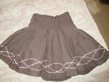 Mila Blue Little Girls Skirt in Brown Age 4 years