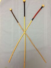"'The Domina' Premium Rattan Punishment Cane w/balltop&suede grip-34"" L & 3/8"" D"