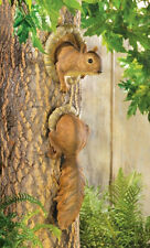SQUIRREL TREE STATUE HANGING YARD ART Garden Décor NEW